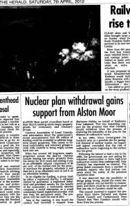Nuclear plan withdrawal gains support from Alston Moor