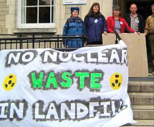 Before the Meeting -       Smiley Faces Afterwards NO NUKE DUMP at KEEKLE!