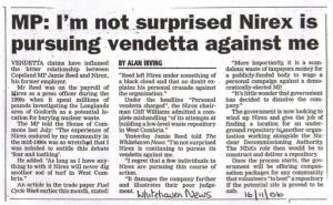 """""""Nirex will never dig another sod of turf in West Cumbria"""" - Jamie Reed 2006"""