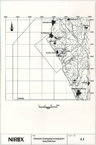 Nirex Map- Sellafield Geological Investigation Area Definition