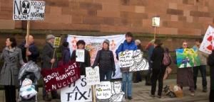 Anti Nuclear Campaigners 30th January in Carlisle