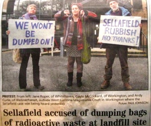 We Won't be Dumped On! Radioactive Waste in Landfill