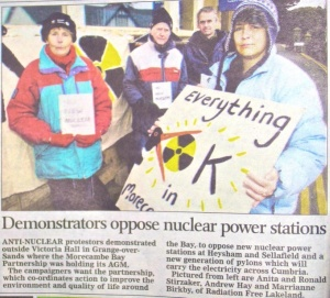 Morecambe Bay Demo - Westmorland Gazette 4th April 2013
