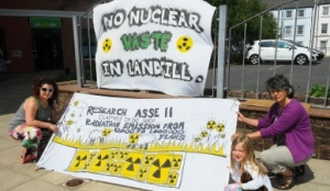 """exempt"" nuke waste in landfill - NO THANKS! image:News and Star 7th June"