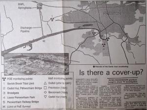 Springfields radioactive discharge map EP Nov 18 1991