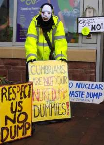 Cumbrians are not your nuke dump test dummies!