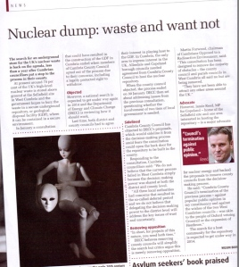 Government Nuke Dump Lies Spun in The Big Issue. Dec 9-15th 2013
