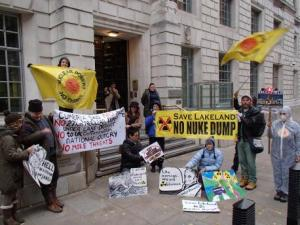 Radiation Free Lakeland - No Nuke Dump! Whitehall Dec 3rd 2013