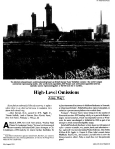 High Level Omissions - Lies of our Times by Anna Mayo 1994