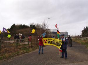 Radiation Free Lakeland at Heysham Fukushima Vigil 2014