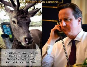 "Sellafield Deer Rings Dave ""Gonna Shoot Us All"""
