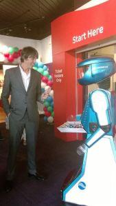 Prof Brian Cox taking the Sellafield Lollypop!