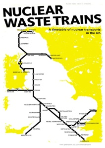 Nuclear Waste Trains Map