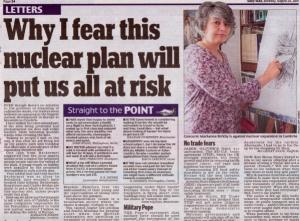 Moorside Nukiller Daily Mail Letter Aug 25 2014