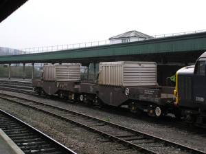 Nuclear waste train at Bridgewater