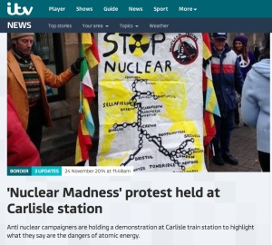 Nuclear Madness protest held at Carlisle Station