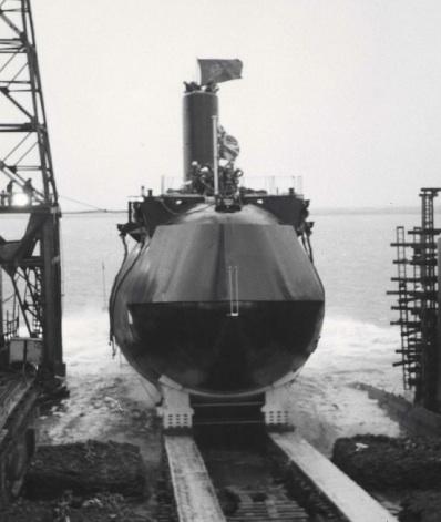HMS Churchill launch in Barrow 1968
