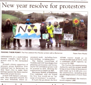 "Whitehaven News  January 8th 2015 New Year Resolve : ""upsurge of resistance"""