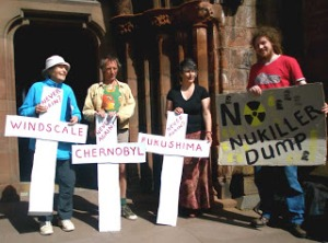 April 26th  2011 outside Carlisle Cathedral
