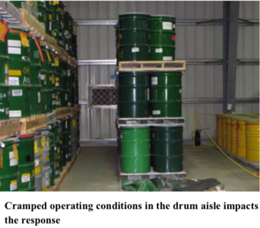 nuclear waste drums metal shed zoom
