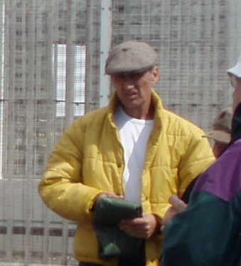 Duncan Ball outside Sellafield during peace vigil of 2007
