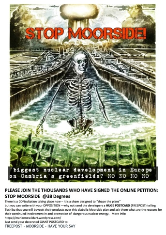 Stop Moorside CONsultation poster