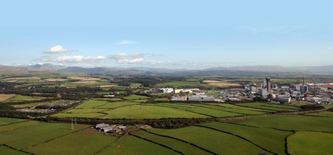 The Sellafield site on the right and just some of the land