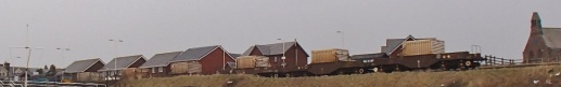 March 12th 2015 1pm - train going to Sellafield fully  loaded with 6 flasks, that morning a gas explosion took place in Seascale in a house just feet away from the tracks.