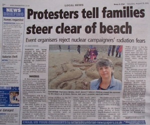 Steer Clear of Beach.  News & Star Star 8.8.15