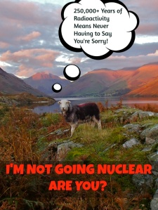 250,000 Years of Radioactivity means....Never having To Say You're Sorry!!