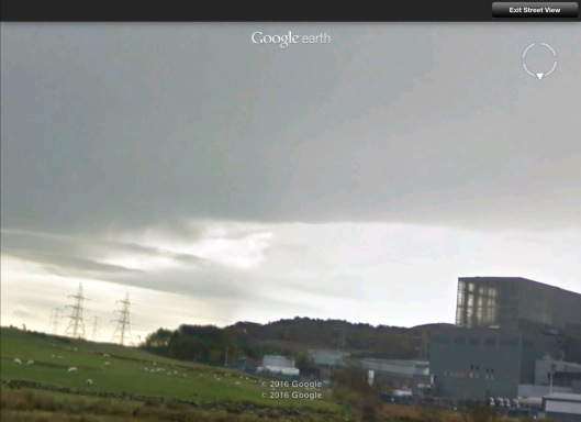 Hunterston B sheep and grid streetview