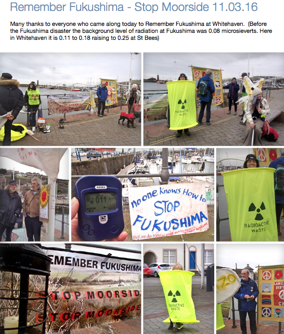 Remember Fukushima - Stop Moorside 11.03.16