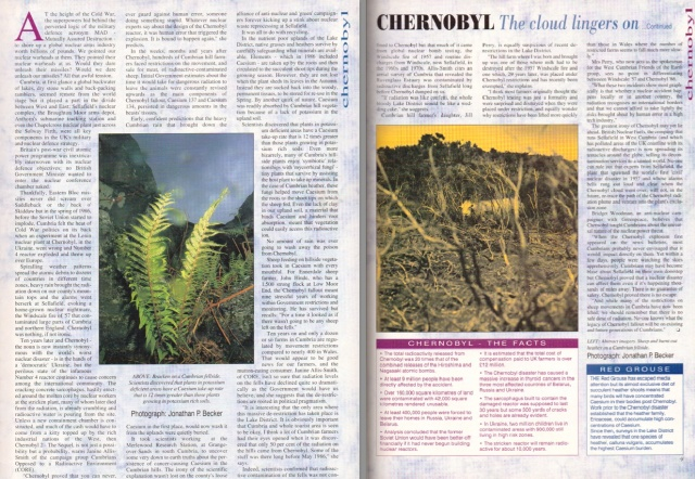 Chernobyl 10 years on - Cumbria Life 1996