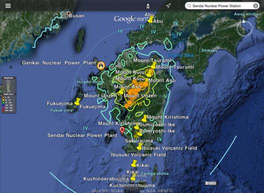 14 to 15 April 2016 Japan earthquake swarm