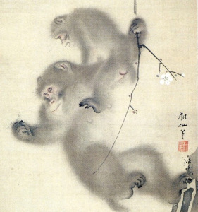 Mori Sosen, 1747-1821, Monkeys in Plum Tree