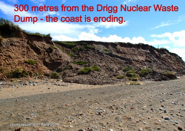 300 metres away from the Drigg Nuclear Waste Dump - the coast is eroding
