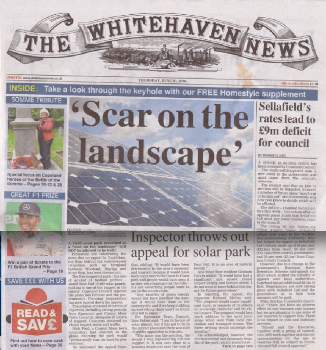 """Scar on the Landscape"" - Moorside? No a Solar Park!"