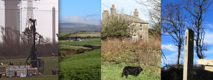 Drilling Rigs and Herdwick, Farm Cottage Left to Rot, Footpaths Trashed