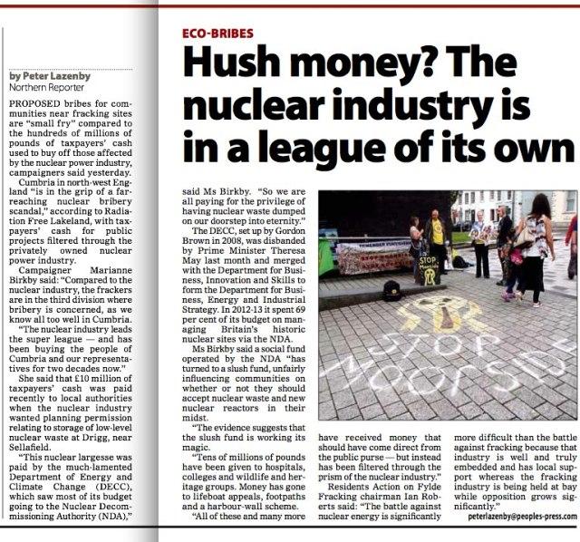 Hush Money.Morning Star  11.8.16