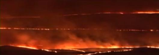 Hanford Fire 2007 DOE vid screenshot night