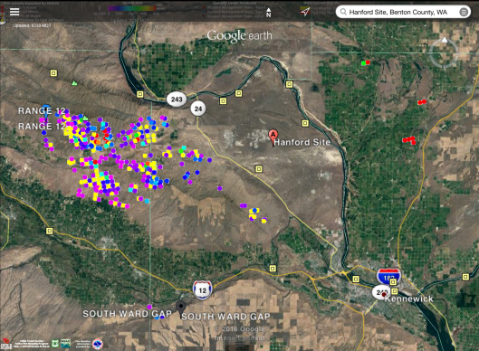 Fires near Hanford 230 am MDT Aug 5 2016