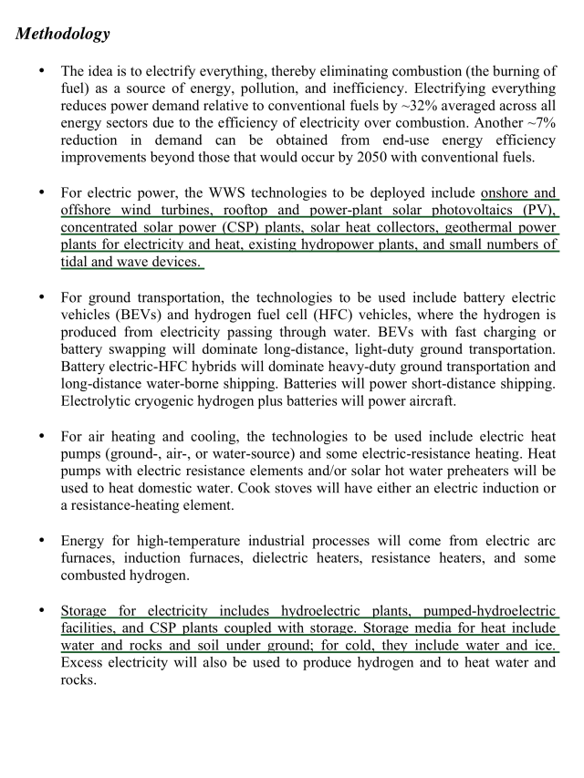 Testimony to the US House Nov 19, 2015 By Mark Z. Jacobson, Stanford, Renewable Wind, Water, Solar (WWS) Power for all Purposes by 2050, 80% by 2030 , p. 2
