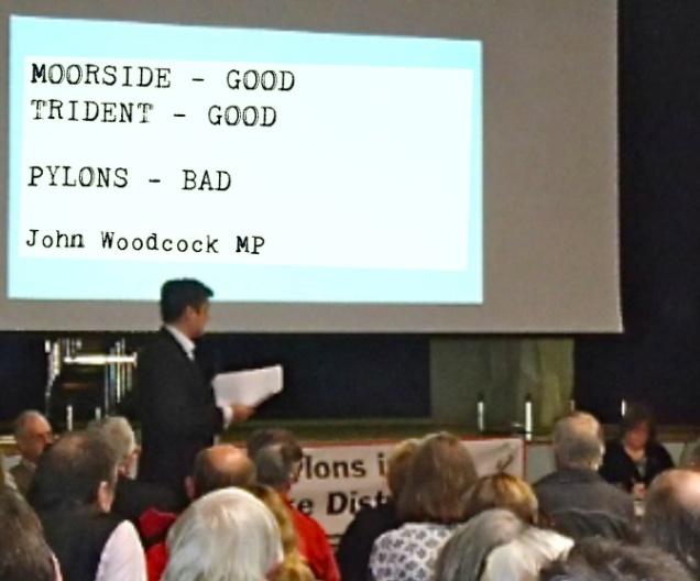 Moorside Good - Pylons Bad says John Woodcock MP