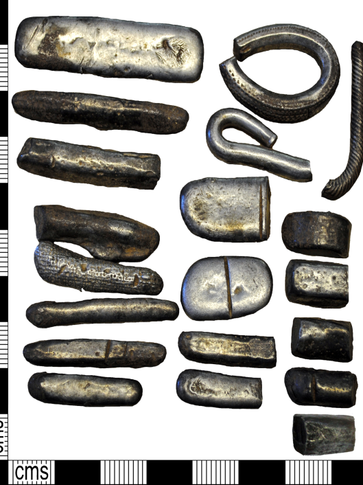 CC-BY  The Portable Antiquities Scheme, 3 Feb. 2015  The period is early medieval Circa AD 850 Date to Circa AD 950, found in August 2014 - Moorside site, Cumbria UK Viking Hoard