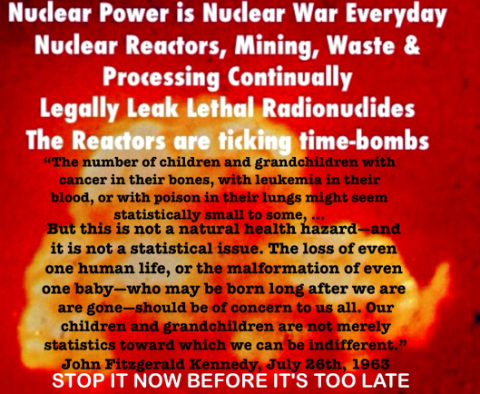 Nuclear Power Nuclear War Everyday JFK quote