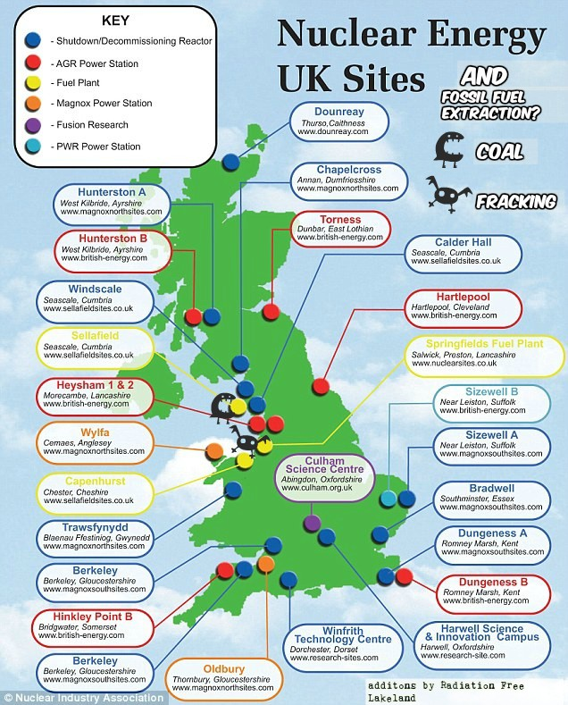 Map Of Uk Power Stations.Fossil Fueled Earthquakes At The Uks Two Key Nuclear Sites