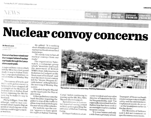 Nuclear Convoy Concerns  - Lancaster Guardian May 2017.jpg