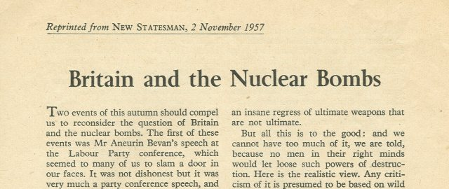 Britain and the Nuclear Bombs, by J.B. Priestley