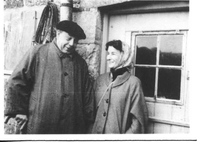 J.B. Priestley and Jacquetta Hawkes in 1958