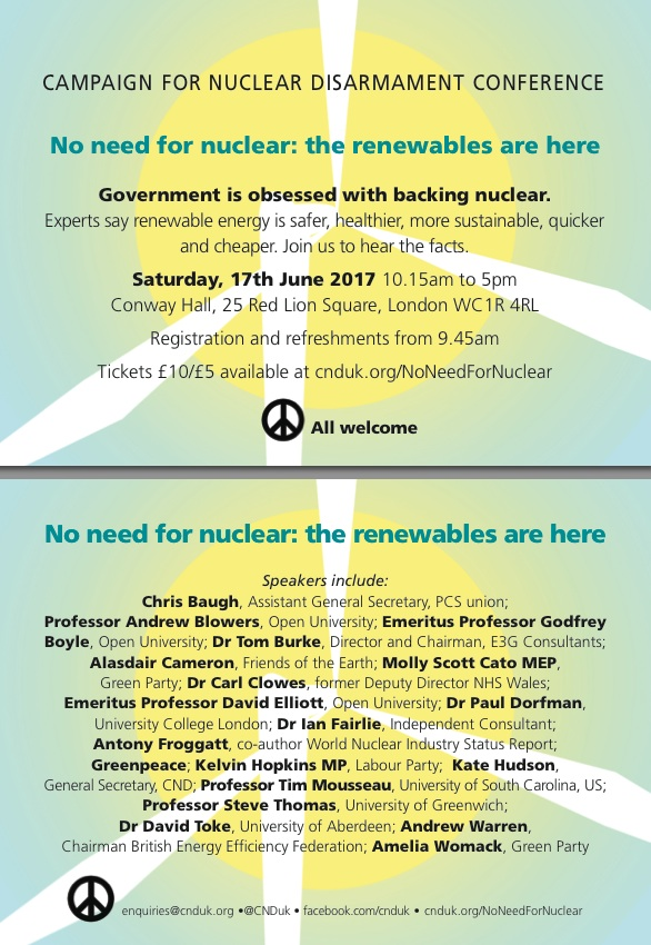No Need for Nuclear - CND